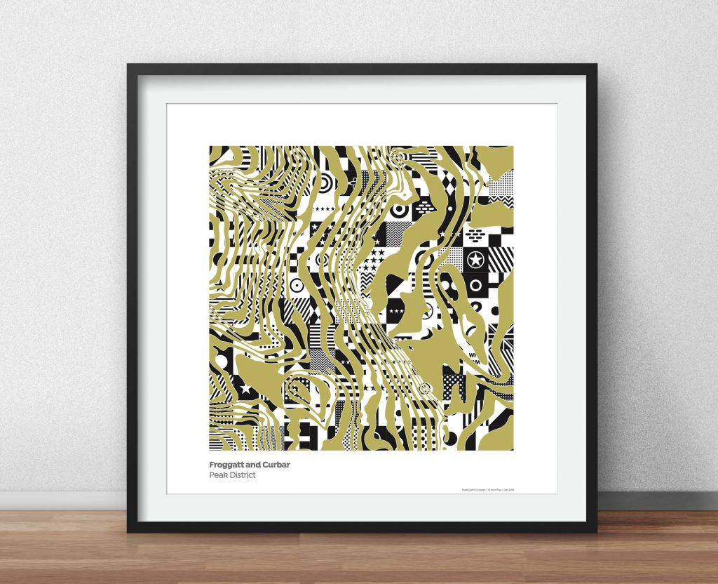 Contour Screen Print from Peak District Design