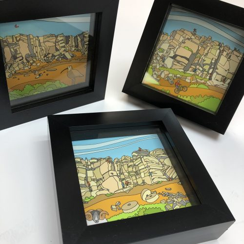 Stanage Edge Set of 10cm Mini Prints